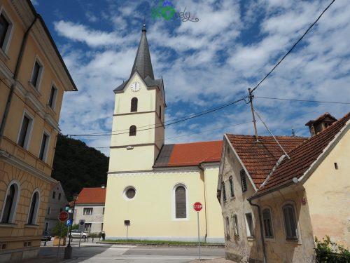 Per le vie del centro storico di La Mencingerjeva hiša, parte del museo civico di Krško.
