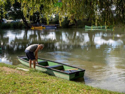 Le tipiche barche di Kostanjevica.