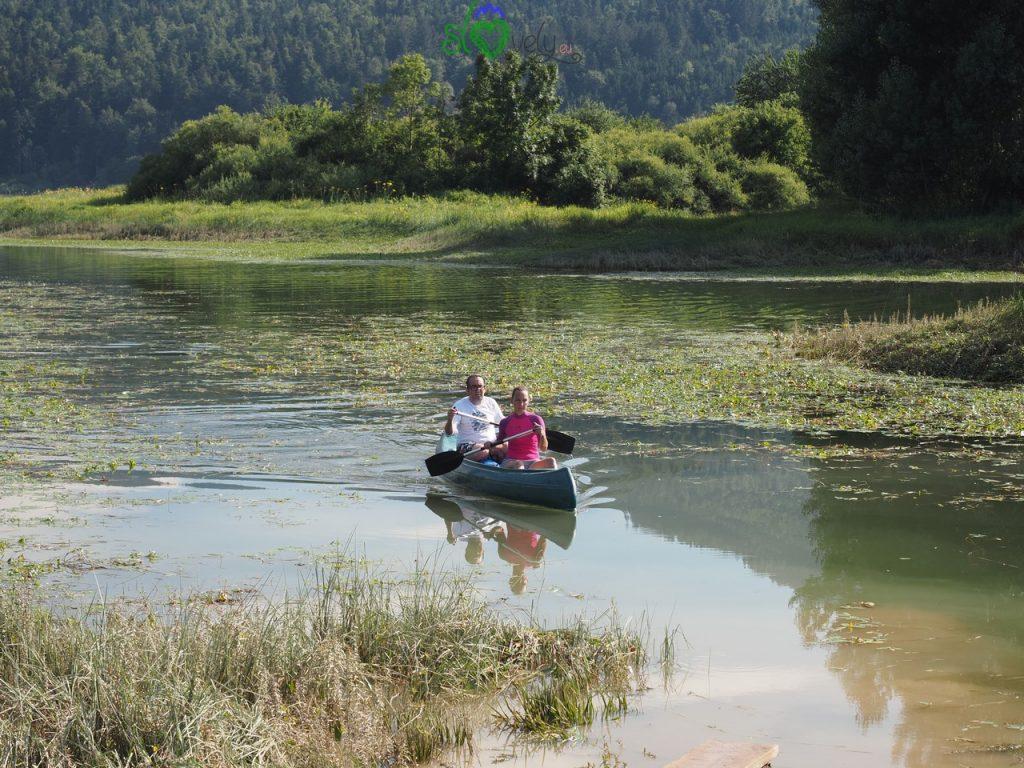 Pagaiando sul Cerkniško jezero. - Carso Verde