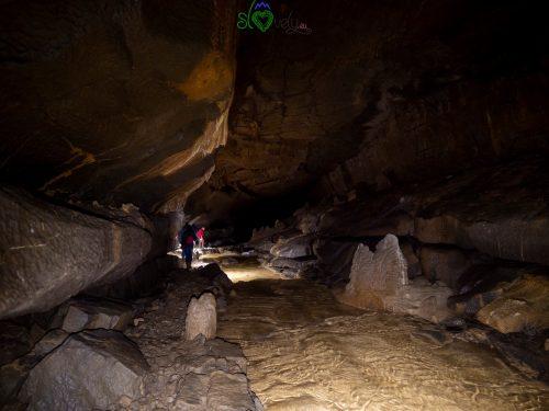 Esplorando la Križna jama.