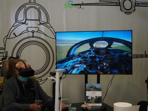 Simulatore di volo in realtà virtuale.