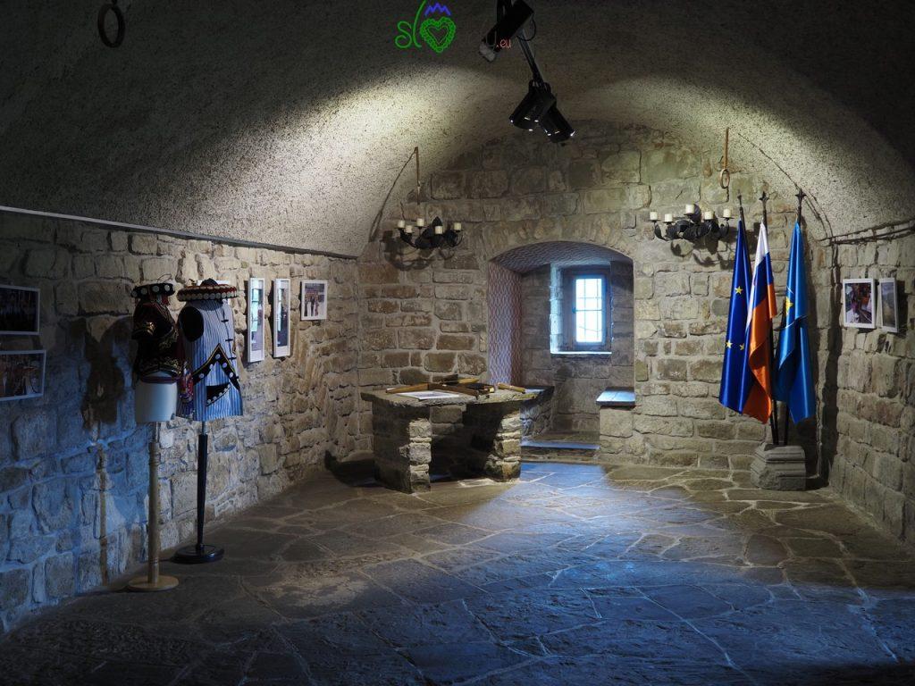 I sotterranei del castello di Prem.