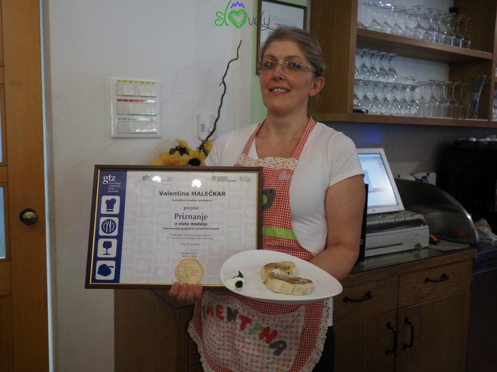 Štruklji da medaglia d'oro per la signora Valentina Malečkar!
