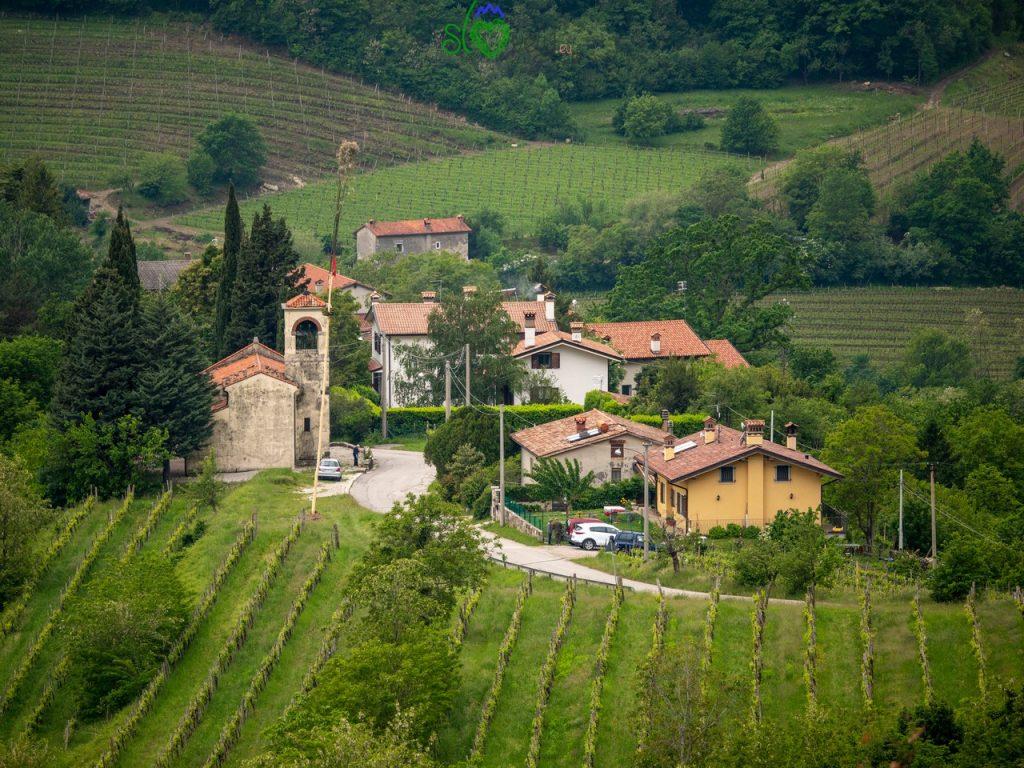 Il piccolo borgo di Štmaver, da dove inizia la nostra gita.