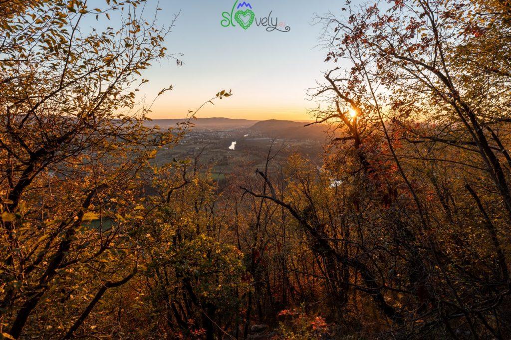 Un super tramonto visto dal Sabotino.