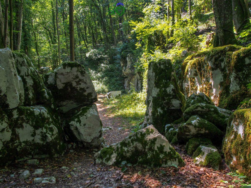 Nel bosco appare il mitreo di Rožanec. Quarto luogo del mistero.