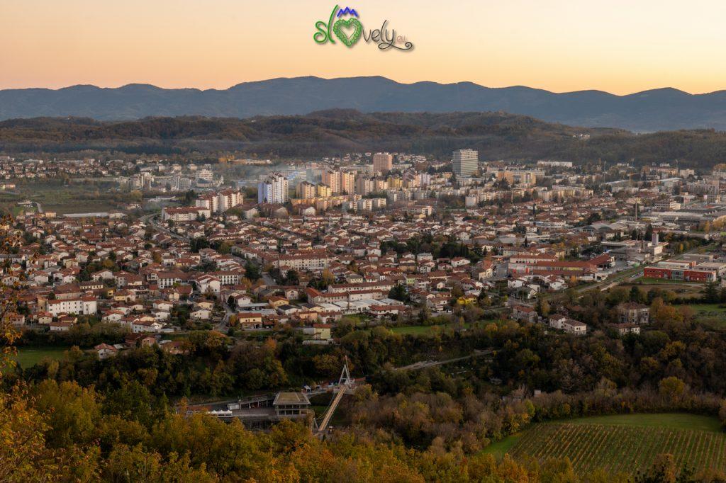 Nova Gorica vista dal monte Sabotino.