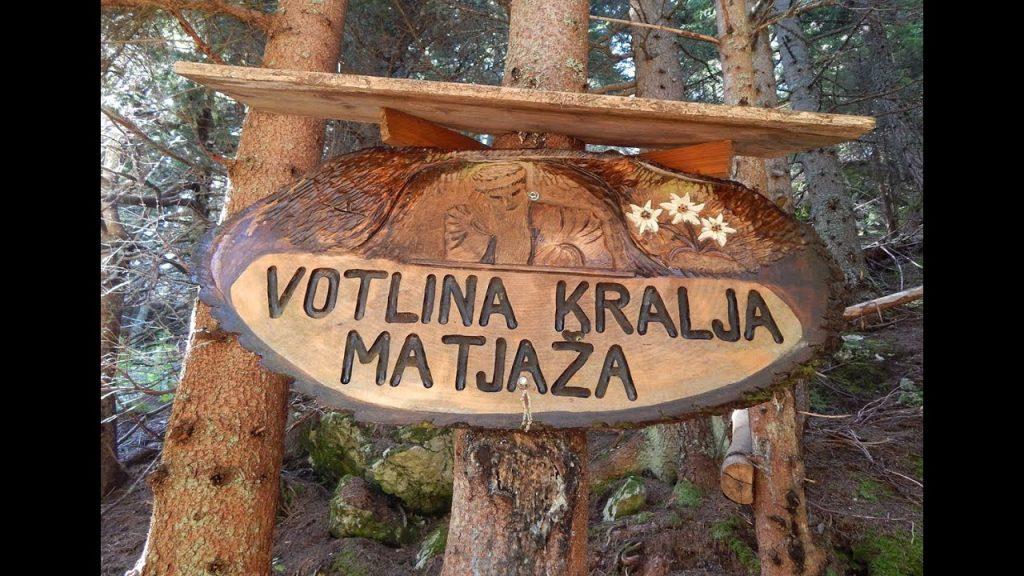 L'ingresso della grotta del Re Matjaž.