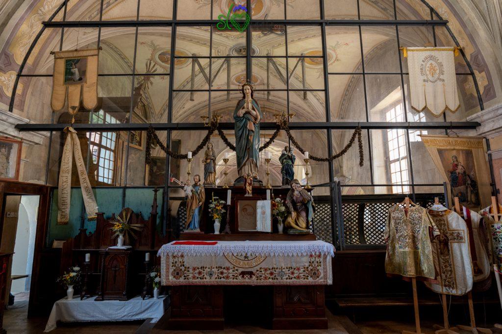 L'antico coro del monastero di Studenice.