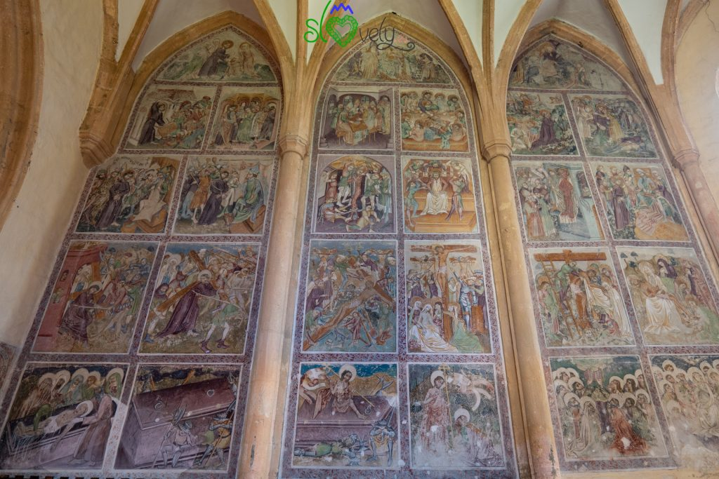 I magnifici affreschi della chiesa dello Spirito Santo a Slovenj Gradec.