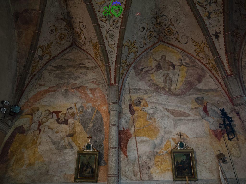 Gli affreschi della chiesa di S.Rocco a Sele.